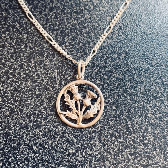 Scottish thistle pendant or earrings.